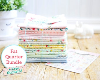 Bunnies & Cream Fat Quarter Bundle + Free Stickers