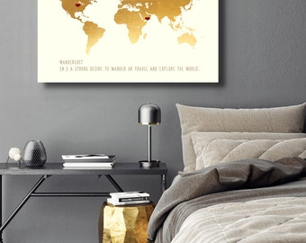 Home sign 40th Birthday Romantic Gift Meaningful Gift for Wife Unique Gift for husband birthday gift for wife 30th birthday World Map 20x24