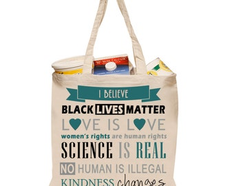 I Believe canvas tote
