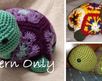 Turtle Plush Crochet PATTERN