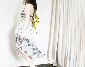 upcycled clothing, high low racer back dress . i got sunshine . S