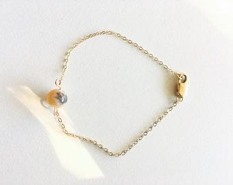 Delicate Pink Stone Bracelet