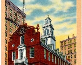 Vintage Boston Postcard - The Old State House (Unused)