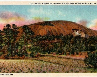 Vintage Georgia Postcard - Stone Mountain, Atlanta (Unused)