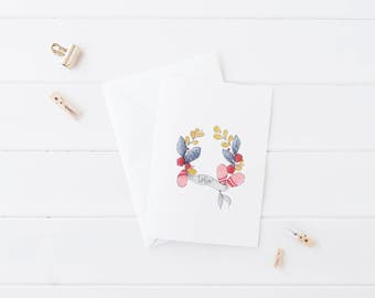 hello. -- set of 5 notecards