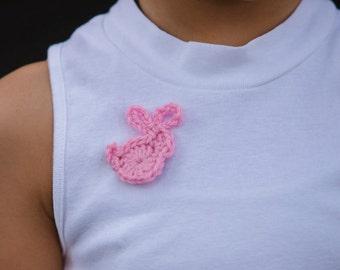 bunny brooch/ cute animal brooch/ vegan pin/ rabbit pin/ women brooch/ lapel pin/ bunny lover gift/ party favors/ animal pins/ pink pin
