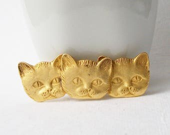 ON SALE Vintage Cat Brooch