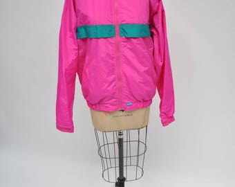 vintage jacket PINK warm up track athletic 1990s oversized SMALL high seas unisex