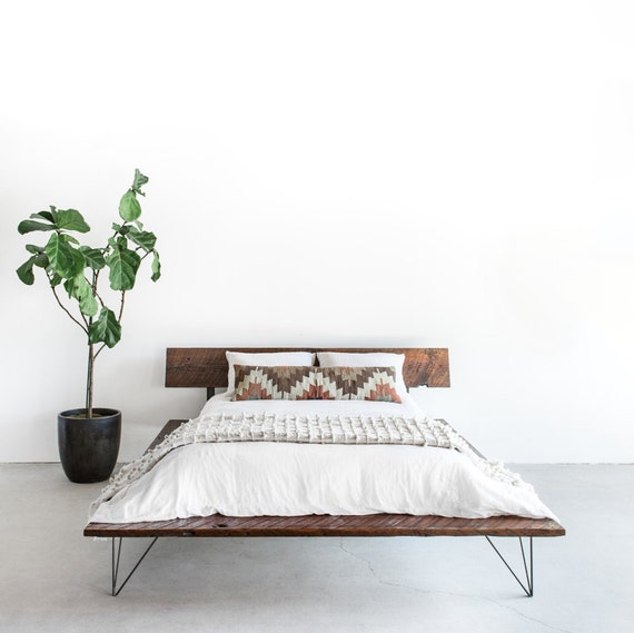 Items similar to reclaimed wood platform bed frame for Where to buy reclaimed wood los angeles