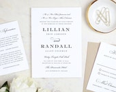 Printable Wedding Invitation Template | Formal Script | Word or Pages | MAC or PC | Editable Artwork Colors - Instant DOWNLOAD