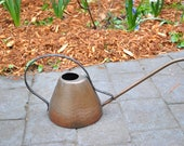 Vintage copper watering can, long spout, hand hammered, made by Wall Handarbeit in Germany, beautiful patina