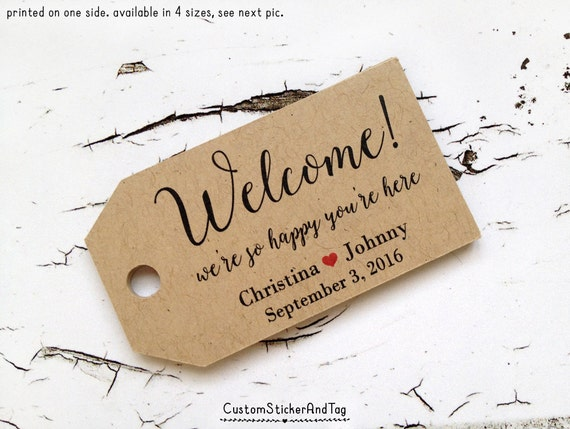 Personalized Luggage Tags Wedding Gift: Welcome Tags, Destintation Wedding Tags, Wedding Favor