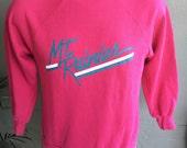 Mt Rainier 1980s vintage soft pink sweatshirt size medium