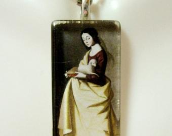 Saint Agnes pendant with chain - GP12-420