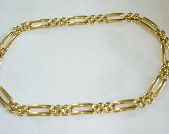 Monet Chain Link Necklace  Gold Tone