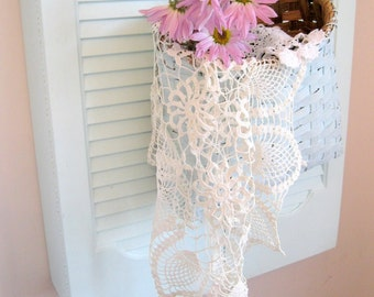 Large Round Crochet Doily, Handmade, Crochet, Shabby Cottage, Shabby Chic, Romantic Home, by mailordervintage on etsy