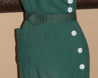 Jerry Gilden  Spectator Dress circa 1956. Irish Linen