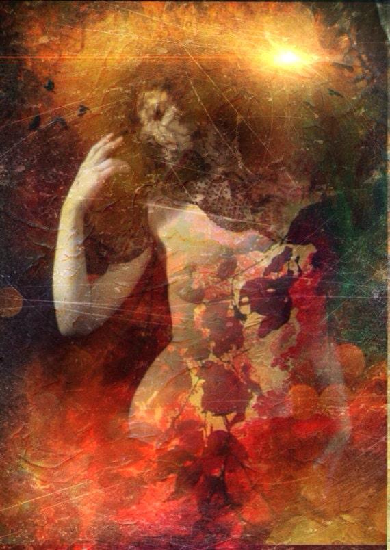 Burning Roses Perfume Oil - Nag Champa Incense and Dark Red Roses - 5 ml.