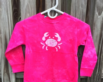 Pink Crab Shirt, Kids Crab Shirt, Girls Grab Shirt, Hot Pink Crab Shirt, Long Sleeve Girls Shirt, Maryland Crab Shirt (4/5)