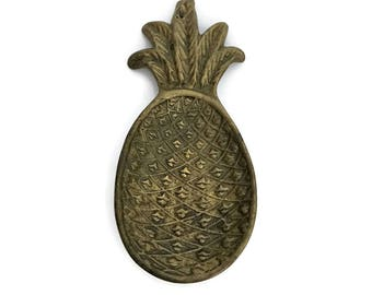 Vintage Brass Pineapple Dish Tray