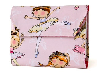 Ballerinas Deluxe Crayon Wallet with option to add a name, Crayon organizer, Art wallet, Crayon keeper, Art kit, Handmade toy, Kids art toy