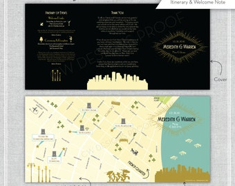 NEW ORLEANS New Years Eve Tri-Fold Map.