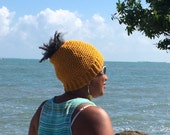 Crochet Messy Bun Hat, Ponytail Hat, Pony Tail Beanie, Crochet Rasta Hat, Crochet Bun Hat, Order in any colour