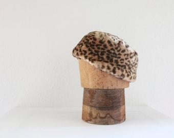 c1970's Faux Leopard Hat