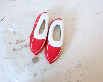 S A L E 1960's NOS house slippers
