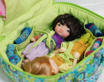 Travel Bag Sleeping Protective For Two Dolls Case Irrealdoll Lati Yellow Nikki Britt Pukifee Handcrafted 1/6 Bjd Green Turquoise Gray Yellow