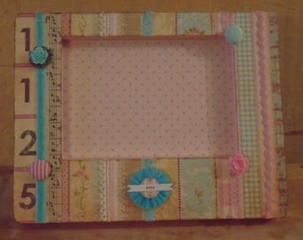 Cottage Chic Floral Decoupaged Picture Frame