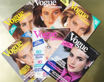 Vogue Patterns Magazines All 6 Issues from 1984  Fashion Photography, Illustrations, and Ads
