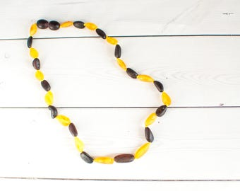 Amber Teething Necklace - Raw Baltic Amber - Amber Necklace - Amber Teething Necklace - Teething Necklace for Child - Gift