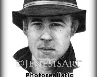 Custom Photorealistic Portrait - Detailed Graphite Drawings, customizations welcome!