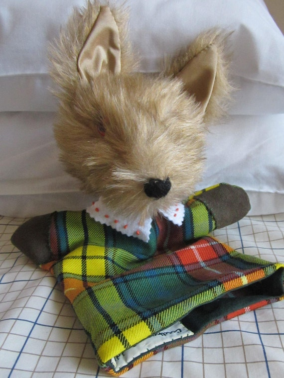 Coyote Hand Puppet, Plush Coyote Puppet, Cool Toy for Tots, Toddlers Toy Gift. Tots or Toddler Toy. Scottish Toy Coyote, Kids Activity Toy.