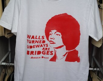 Angela Davis quote t shirt tshirt feminist art feminism street art by Rainbow Alternative power to the people