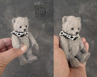 Peiri, Miniature Mohair Artist Teddy Bear from Aerlinn Bears
