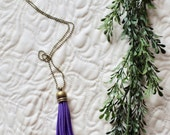 The Graham - Benefitting SMA Research - Vegan Faux Suede Oil Diffuser Long Tassel Necklace