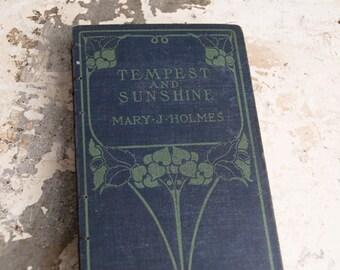 1882 TEMPEST and SUNSHINE Vintage Lined Notebook Journal