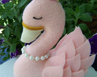 Swan Cake Topper, Princess cake topper, cake topper, princess, pink and gold first birthday, swan princess