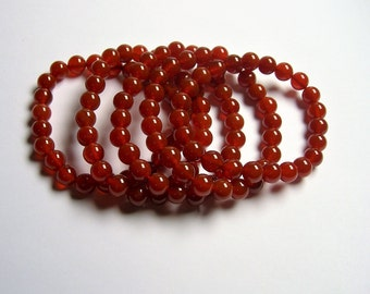 Carnelian - 8mm round beads - 23 beads - 1 set - A quality - HSG62