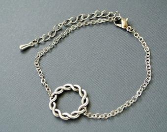 Circle Bracelet, Karma Bracelet,Simple Circle Bracelet, Eternity Bracelet,Dainty Bracelet