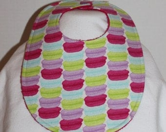 Macaroons Flannel / Terry Cloth Bib