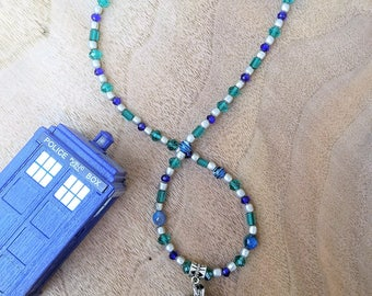 Doctor Who Tardis Necklace, Tardis Pendant, Doctor Who Jewelry