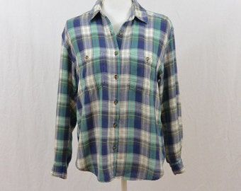 Vintage Super Thin Flannel Shirt, 90's Clothing, Size Small, Grunge, My So Called Life, Tumblr Clothing