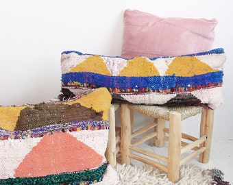 Long Moroccan Kilim Cushion - BOUCHEROUITE