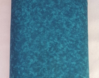 "Dark Teal Blender 108"" wide back 100% cotton fabric"