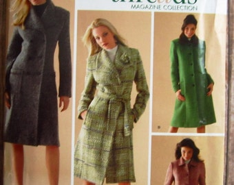 Misses Lined Coats Sizes 8 10 12 14 16 Threads Simplicity Pattern 4403 UNCUT