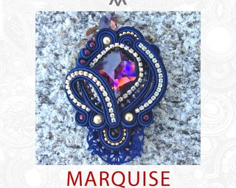 Soutache kit & instructions for the MARQUISE brooch