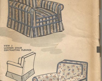vintage home decor sewing patterns chair slipcovers etsy 13090